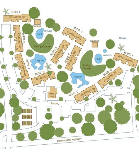 Papakea Resort Sitemap  Condo Site Plans & Floor Plans In