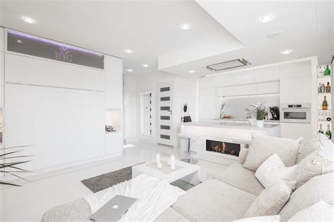 White Apartment by Small Apartment With Unique Interior Design Covered In