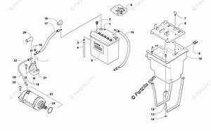Arctic Cat Side By Side 2011 Oem Parts Diagram For Battery And Starter Motor Assembly