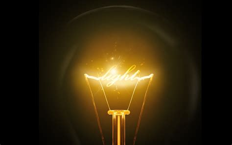 the power of light light bulbs with electrics powerpoint templates light