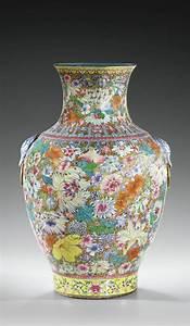 Grand Vase Design : grand vase balustre en porcelaine maill e d cor mille fleurs fin de la dynastie qing china ~ Teatrodelosmanantiales.com Idées de Décoration