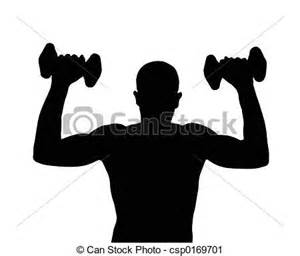 Weight Lifting Silhouette Clip Art