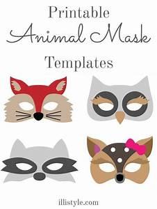 felt animal mask printable templates costumes mask With woodland animal masks template