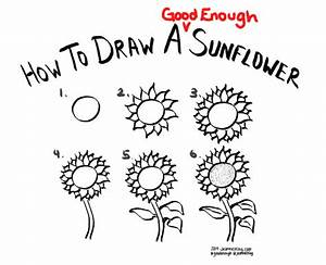 jeannelking.com | How to draw a Good Enough sunflower