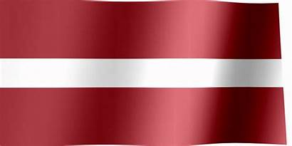 Flag Latvia Waving Latvian Animated
