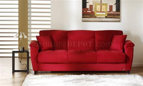 red sectional sleeper red microfiber fabric living room storage sleeper sofa
