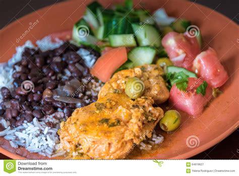 cuisine cubaine cuisine cubaine plat typique photo stock image 64619627
