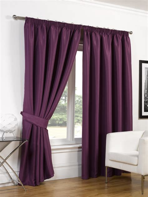 luxury faux silk blackout curtains ready made pencil pleat