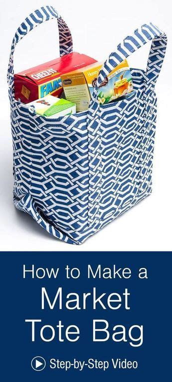 market tote bag sewing projects  beginners