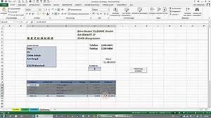 Rechnung Schreiben Mit Excel : excel tabellen sverweis spezialfilter makros rechnung erstellen youtube ~ Themetempest.com Abrechnung