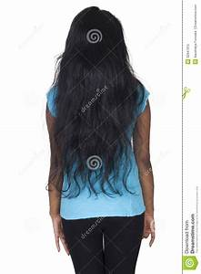 Asian Girl From Back Side Stock Image  Image Of Background