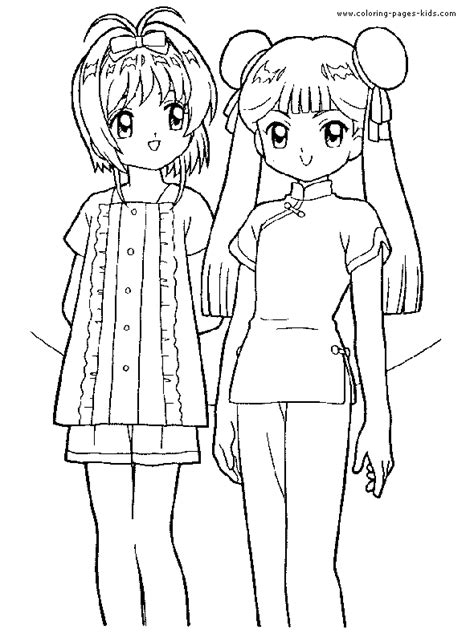 cardcaptor sakura color page coloring pages  kids cartoon characters coloring pages