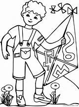 Kite Coloring Pages Kites Flying Boy Colouring Holding Listener Hopscotch Template Clipartmag Clipart Clipartpanda Playing Visit Getdrawings sketch template
