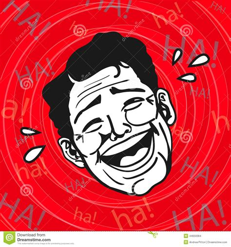 vintage retro clipart lol man laughing  loud stock