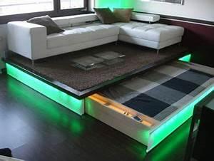 Podest Mit Ausziehbarem Bett : beleuchtetes ausziehbett zimmer pinterest ausziehbett empore und wohnideen ~ Markanthonyermac.com Haus und Dekorationen