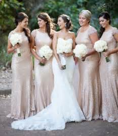 gold dresses for bridesmaids 2015 newest bridesmaid dresses gold sequins bling cap sleeve scoop neckline fit and flare