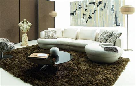 canapé d angle arrondi pas cher canapé arrondi en cuir italien design et pas cher modèle