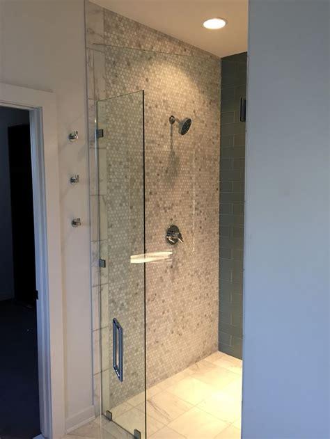 entry shower bathroom interior design modern