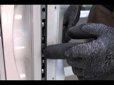 adjust sliding glass door lock handle youtube