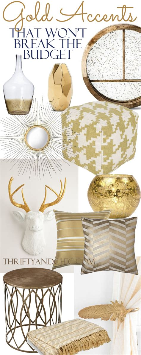 gold home decor thrifty and chic diy projects and home decor