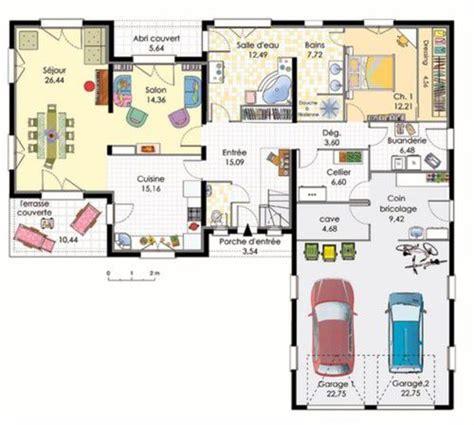 plan maison moderne 3 chambres maison contemporaine 3 dé du plan de maison