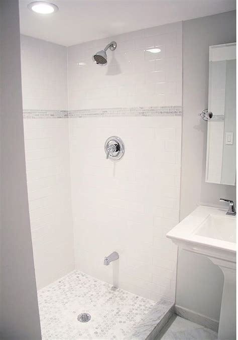 basement bathroom shower lovely basement bathroom design with light gray walls paint color glossy subway tiles