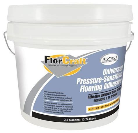 Menards Carpet Tile Adhesive by Florcraft 174 Universal Pressure Sensitive Adhesive 3 5 Gal
