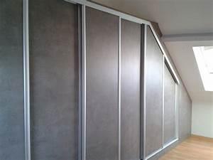placards a portes coulissantes sous pente le kiosque With porte coulissante sous pente laterale