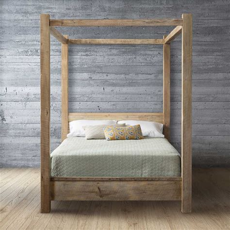 reclaimed wood canopy bed urban evolutions