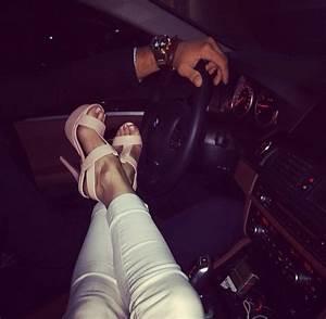 couple fashion luxury Legs car high heels gold watch ...