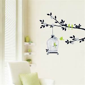 Tree and Birdcage Wall Stickers - wallstickery com