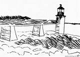 Lighthouse Coloring Pages Sketch Printable Adults sketch template