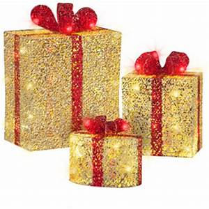 Shop Gemmy Lighted Gift Boxes Outdoor Christmas Decoration
