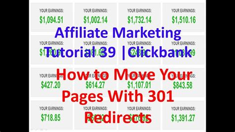Affiliate Marketing Tutorial 39 | Clickbank | How to Move ...