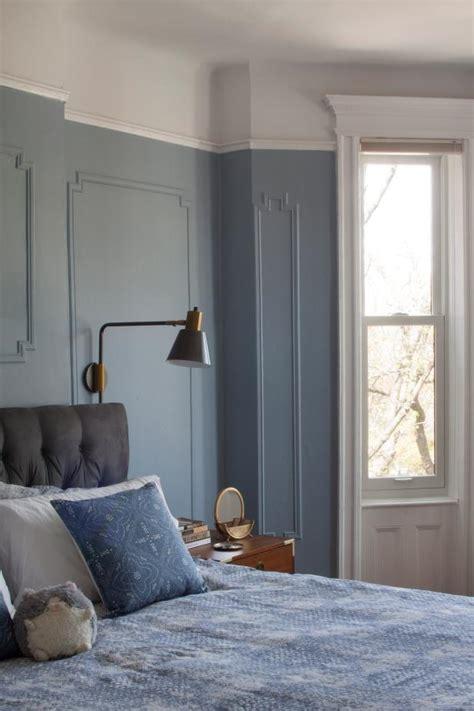 contemporary master bedroom  blue wainscoting hgtv