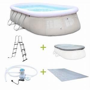 Piscine Gonflable Avec Pompe : kit piscine onyx 5 4x3m gonflable grise pompe de ~ Dailycaller-alerts.com Idées de Décoration