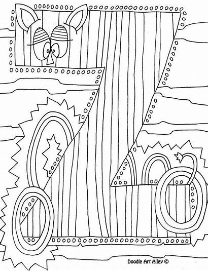 Coloring Pages Alphabet Doodle Alley Colouring Velvet