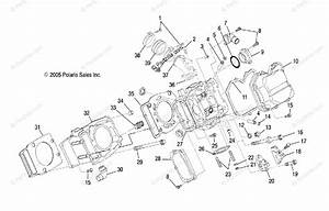Polaris Side By Side 2007 Oem Parts Diagram For Engine  Cylinder