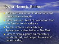 what is the definition of epic simile