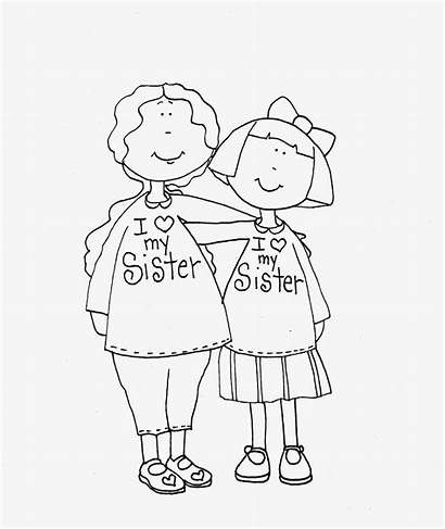 Sister Drawing Stamps Dolls Dearie Pages Digi