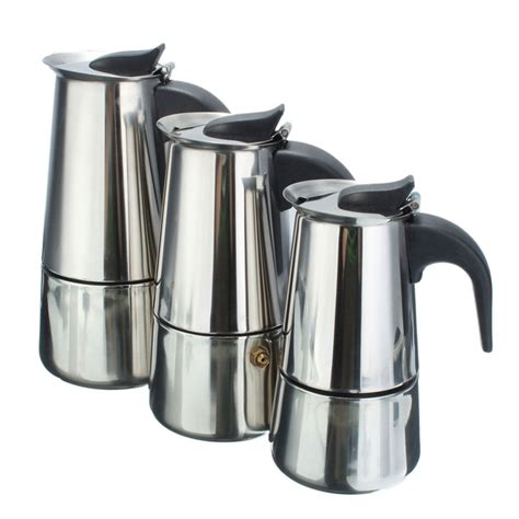 It is my morning routine now as much as it is for the millions of italians out there. 2 6 cups Stainless steel Moka Coffee Pot Makers Italian ...