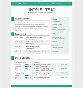 28 free cv resume templates html psd indesign web for Cv website template free