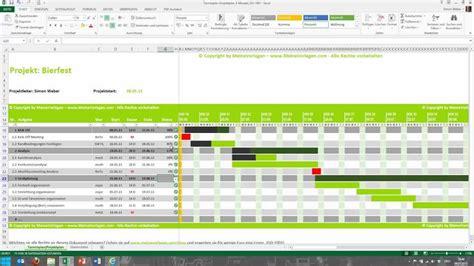 tutorial fuer excel projektplan terminplan zeitplan