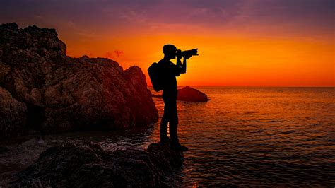 photographer sunset  wallpapers hd wallpapers id