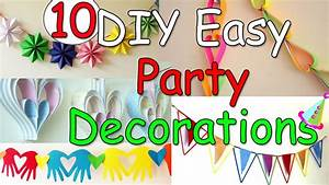 10, diy, easy, party, decorations, ideas