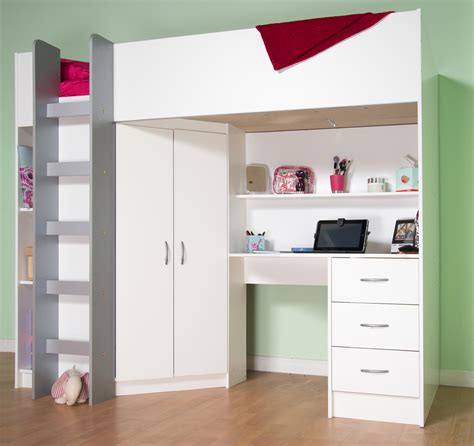 Wardrobe With Drawers Underneath by Boys Bed With Built In Desk Wardrope Loft And Storage