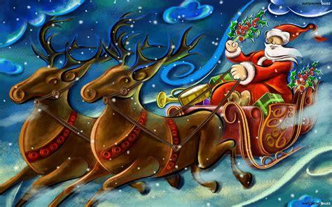 Santa Claus on Sleigh   Jesus Christ Wallpapers ...