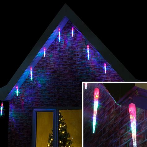 outdoor led icicle light clear cable