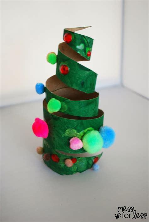 christmas crafts  kids cardboard tube christmas tree
