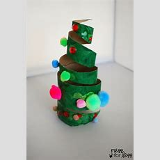 Christmas Crafts For Kids  Cardboard Tube Christmas Tree